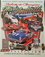Mario Andretti Indy Car F1 Sprint Car Nascar Legend Hall Of Fame Poster 28X22