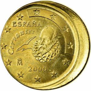 [#484179] Espagne, 50 Euro Cent, 2000, Fautée - Frappe décentrée, SPL, Aluminum-