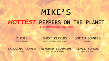"BROWN GHOST PEPPER 1/2 OZ, ""Mike's Organic Hot Peppers"" Pure Pepper Powder"