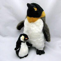 Emperor Penguins Plush Set of Two Stuffed Animals Big and Little