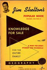 Jim Shelton's Popular Book: Knowledge for Sale – Geography (1958, paperback)