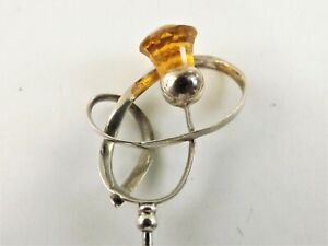 ANTIQUE SILVER HATPIN MADE HALLMARKED CHESTER STERLING / CHARLES HORNER REF 74/5