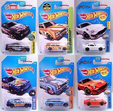 6 Hot Wheels JDM Import Cars Nissan 180SX Datsun Bluebird Custom Datsun 240Z