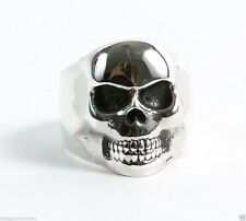 King Baby Studio Sterling Silver Small Classic Skull Ring size 10 K20-5692