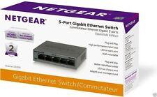 NEW! - NETGEAR 5-Port Gigabit Desktop Switch Metal Case GS305-100PAS