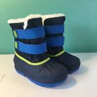 New Cat & Jack Lev Blue Green Winter Snow Boots Toddler Boys Sizes 5-10