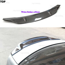 fits for Mercedes W204 C63 AMG C Class Sedan 4-D Carbon Fiber Rear Spoiler 2008+
