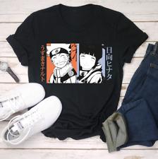 R1 Naruto And Hinata Friends Japanese Anime Manga Otaku Funny Black T-Shirt