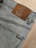 #379 Volcom Mens Solver Modern Straight Jeans 28 Gray