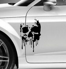 Autoaufkleber TOTENKOPF SKELETT SKULL BLOOD BLUT Aufkleber 30x20cm Sticker Decal