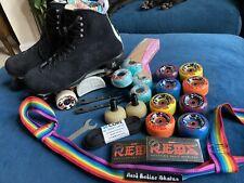 New listing Moxi Jack Roller Skates Size 9 With CIB Slide Blocks And FULL PARK SET UP