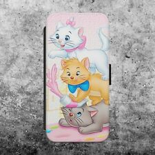 DISNEY MARIE CAT FLUFFY CUTE GIRLY FLIP WALLET PHONE CASE COVER iPhone SAMSUNG