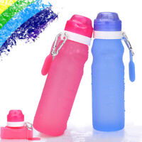 400ML Silicone Folding Water Bottle Sport Bottle Cup for Cycling Camping Running