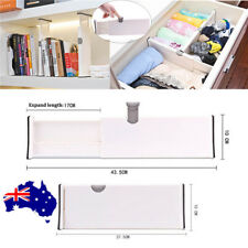 Drawer Dividers White Spring Loaded Expandable Kitchen Bedroom Organizer  ON