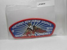 NORTHERN NEW JERSEY COUNCIL RED BACKGROUND 2013 NATIONAL JAMBOREE PATCH