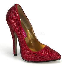 Zapatos de tacón de mujer de tacón alto (más que 7,5 cm) de color principal rojo talla 36