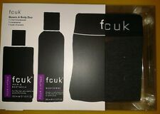NEW MENS FCUK BOXERS & BODY DUO GIFT SET BOX +FREE VALENTINES GIFT WRAP ONLY £17