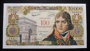 """100 N.Francs / 10 000 Francs  """"Bonaparte"""" - 30 octobre 1958"""
