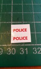 CODE 3 POLICE DECALS IN RED