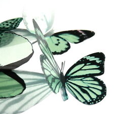 100 Pack Butterflies - Celadon - 5 to 6 cm - Topper, Weddings, Crafts, Cards,