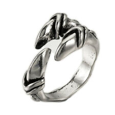 Adjustable Alloy Cuff Finger Ring Wide B Ring Antique Silver 18.5mm P407