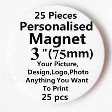 "25 Custom Personalised COMIC MOVIE Pinback button Fridge Round Magnet 3"" 75mm B"