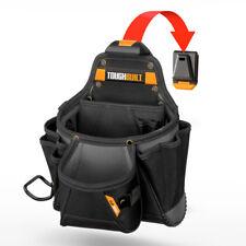ToughBuilt Tool Work Belt Storage Bag Contractor Pouch Pocket Hammer Loop Clip
