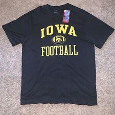 NWT Mens Large LG Black Gold Iowa Hawkeyes Football Tshirt Tee Shirt T-shirt