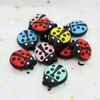 Safe Silicone Loose Beads Ladybug Insect DIY Baby Chewable Teething Jewelry Toys