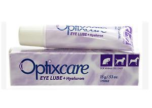 Optixcare Eye Lube Plus Hyaluron  20g Pet eye lubricating drops.