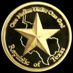 2011 REPUBLIC OF TEXAS GOLD 1/10 OZ ONE NATION UNDER ONE GOD .9999 FINE COIN