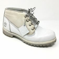 Men's Timberland Premium Ankle Boots Shoes Size 11M White Leather Casual F7
