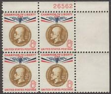 Scott # 1148 - Us Plate Block Of 4 - Thomas G. Masaryk - Mnh -1960