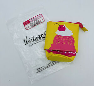 Thirty One HIDE & PEEK Pouch Tote Bag Sundae Surprise Pencil Kids Brand New