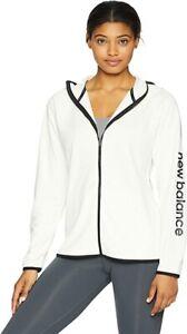 New Balance Women's Core Fleece Full Zip, Sea Salt, Medium