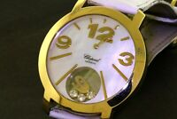 Chopard Happy Diamond Happy Time 4176 1701Q 18K MOP dial 40mm men's watch w/ B&P