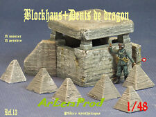 KIT BLOCKHAUS + DENTS DE DRAGON  DIORAMA 1/48 1/43  EXCLUSIVITE !!!