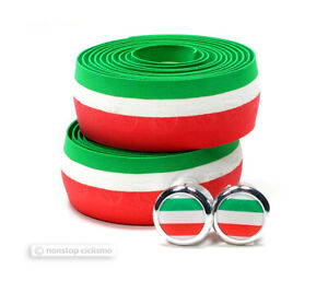 Cinelli CLASSIC CORK Bicycle Handlebar Dropbar Tape ITALY TRICOLORE Italian Flag