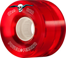 Powell Peralta Clear Cruiser 55mm 80a Red Wheels Set