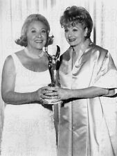 """LUCILLE BALL VIVIAN VANCE CANDID PHOTO - Holding Award for """"The Lucy Show"""""""