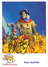 Wizard of Oz London Palladium PAUL KEATING Signed Official Cast Card