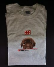 NEW BROWN PUPPY LABRADOR RETRIEVER Grey Dog T-SHIRT Adult X-Large Short-sleeve