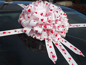 Giant Car Heart detail Bow, Extra Large Present ,Gift +SUPERFAST DISPATCH!!