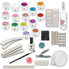 Kit Completo ricostruzione unghie Senza Lampada 15 GEL UV + nail art Germania