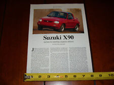 1996 SUZUKI X 90 - ORIGINAL ARTICLE