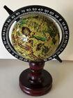 Vintage Rotating Mariners Navigator Old World Globe with wooden base