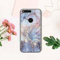 Pink Marble Google Pixel Silicone Case Mineral Colorful Pixel 2 3A XL Gel Cover