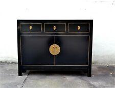 Hochzeitsschrank chinesische Möbel China Schrank Kommode Dielen schwarz Holz