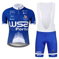 Short Sleeve Bike Cycling Jersey Gel Pad Bib Shorts Kits Men's Pro Team Clothing