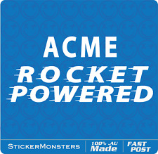 ACME POWERED ROCKET Car Sticker Decal 20cm Van Truck Retro UTE Turbo JDM Drift.